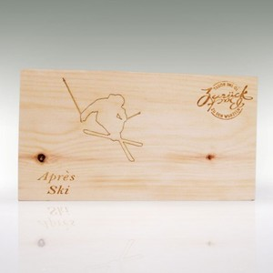 Brotzeit-/Vesperbrett Art 'Aprés Ski' groß/klein  - 4betterdays