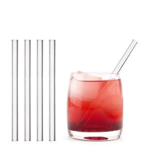 HALM Trinkhalm aus Glas 15 cm 20x Glastrinkhalm Glasstrohhalm + Bürste - HALM