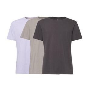 3er Pack TT02 T-Shirt Herren Lila/Hellgrau/Dunkelgrau Bio & Fair - THOKKTHOKK