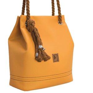 Tasche, Bucket Bag Apricot - Belaine Manufaktur