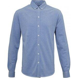 KnowledgeCotton Apparel Pique Shirt Hemd Strong Blue - KnowledgeCotton Apparel