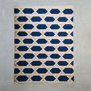 Handgewebter Kelim, Teppich Hexa - Kiliim