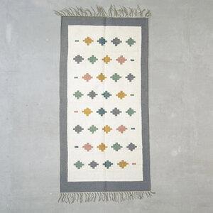 Handgewebter Kelim, Teppich Pastel Tiles - Kiliim