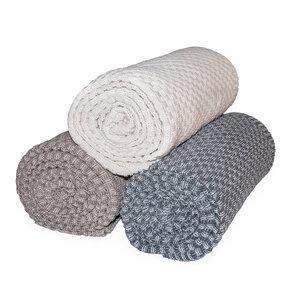 Kuscheldecke 100% Bio Baumwolle Wohndecke Plaid 150 x 200 XXL - RELAXFAIR