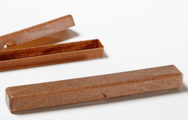 Zahnbürstenbox Buche aus Flüssigholz umweltfreundlich 19,5 cm x 2,5 cm x 2 cm