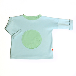 Langarmshirt LOONY in Farbe Aqua  - Maboni