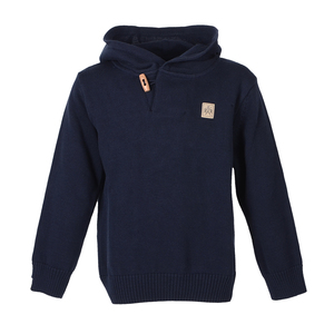 Bars Strick Hooded (Navy) - Band of Rascals