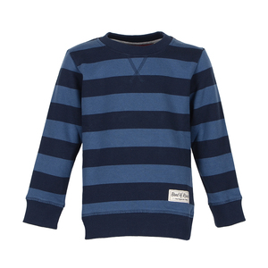 Stripe Sweat ( Navy - Shadow Blue) - Band of Rascals