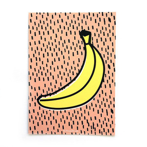 A4 Poster Banane mit Aufhängung - all the things we like