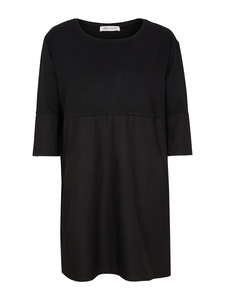 HELEN Dress 3/4 Sleeve - Black - Frieda Sand