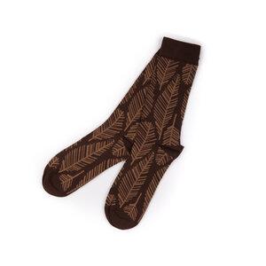 Feathery Socken Rot Lang - bleed
