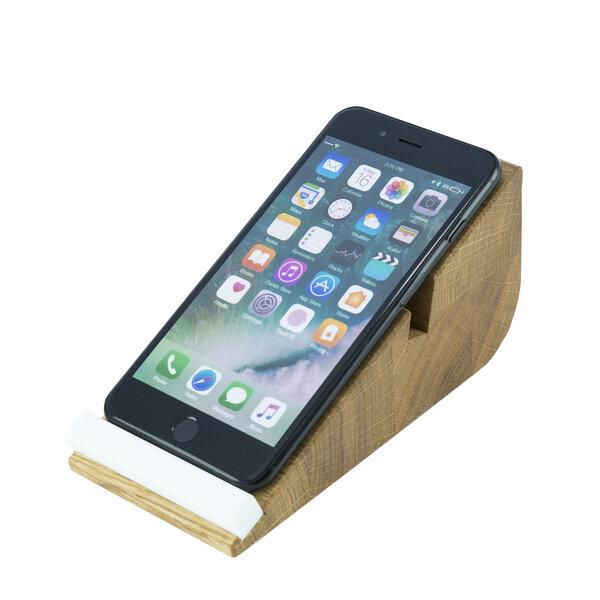 holzbutiq smartphone halter cela 6 iphone halterung. Black Bedroom Furniture Sets. Home Design Ideas