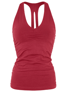 Yoga Top - V-Neck Tank - Rumba Red - Mandala