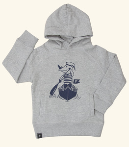 Nils Nashorn - Fair Wear Kinder Hoodie - Heather Grey - päfjes