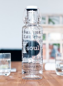 0,6L Soulbottle Glasflasche - Fill your Life with Soul - soulbottles
