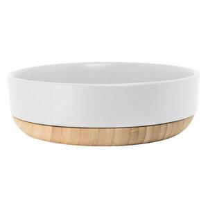 Servierschale mit Holz, weiß - TAK design