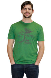 "Bio-Herren-Bambus-Viskose-T-Shirt ""Rooted""  - Peaces.bio - EarthPositive® - handbedruckt"