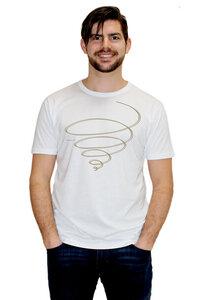 """Bio-Herren-Bambus-Viskose-T-Shirt """"Schwungkreisel""""  - Peaces.bio - EarthPositive® - handbedruckt"""