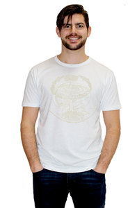 "Bio-Herren-Bambus-Viskose-T-Shirt ""Weltenesche""  - Peaces.bio - EarthPositive® - handbedruckt"