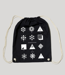 "Bio Gym Bag - Festival Turnbeutel Black ""Fashion"" - SILBERFISCHER"
