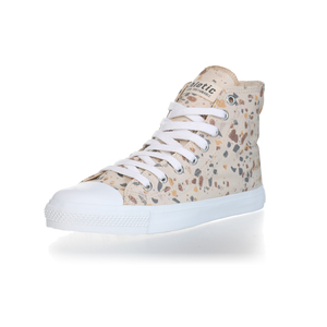 Fair Trainer Hi Cut Collection 18 Terrazzo Caramel | Just White - Ethletic