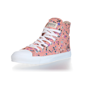 Fair Trainer Hi Cut Collection 18 Terrazzo Rose | Just White - Ethletic