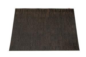 Korkteppich Cork Rug Teppich aus Kork 138x200cm Schwarz - Corkando