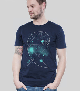 Shirt Men Navy 'Birdy of the Universe' - SILBERFISCHER