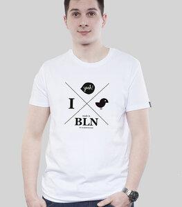 Shirt Men White 'Hipster Yeah' - SILBERFISCHER