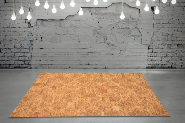 corkando korkteppich cork rug teppich aus kork 138x200cm natur beige rokoko avocadostore. Black Bedroom Furniture Sets. Home Design Ideas