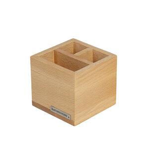 Office Stiftebox Stifteköcher CLASSIC Buchen-Holz von NATUREHOME - NATUREHOME