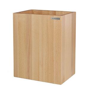 Papierkorb CLASSIC Buchen-Holz Natur geölt 20 x 30 x 35 cm - NATUREHOME