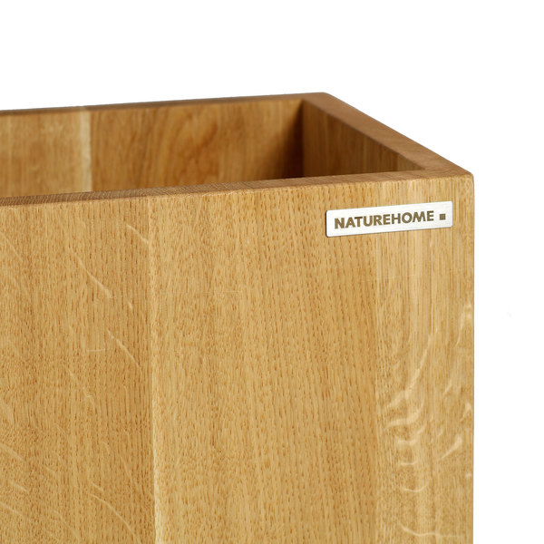 naturehome papierkorb classic eichen holz natur ge lt 20. Black Bedroom Furniture Sets. Home Design Ideas