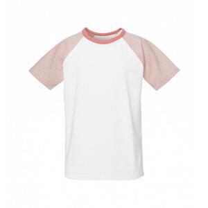 Kinder Raglan T-Shirt Weiß/Rosa Bio & Fair - ThokkThokk