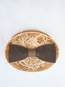 Fliege aus Leder schlicht, aus zweierlei braunem Leder! - Süßstoff