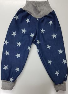 Softshellhose jeansblau mit Sternen - Omilich
