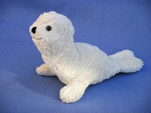 Kuscheltier Robbe weiß - Kallisto