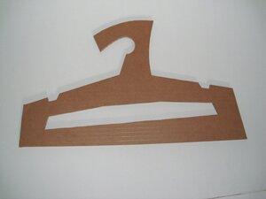 Papp-Kleiderbügel braun - Papp à la papp