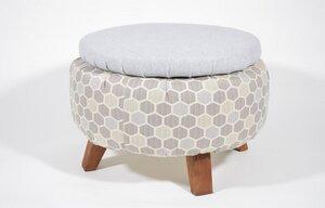 IMMU Hocker + Stauraum, Honeycomb hellgrau - Uptyred