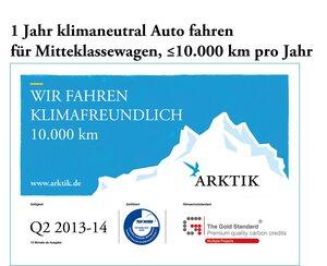 Die Klimaschutz-Vignette für Autofahrer - Klimaschutzprojekte unterstützen, klimaneutral Auto fahren - ARKTIK