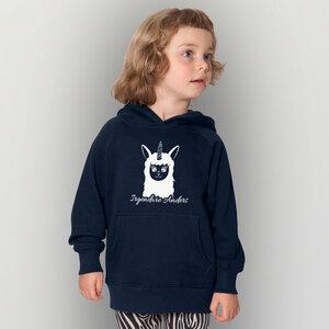 'Lama01' Kinder-Hoody Fairwear Organic - shop handgedruckt