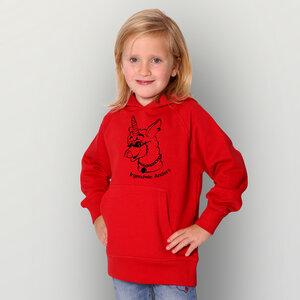 'Lama02' Kinder-Hoody Fairwear Organic - shop handgedruckt