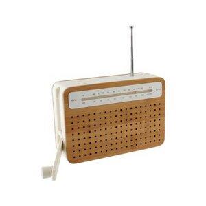 Kurbelradio aus Bambus - Lexon