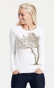 "Bio-Damen-Langarmshirt ""Fancy Tree"" - Peaces.bio - Neutral® - handbedruckt"