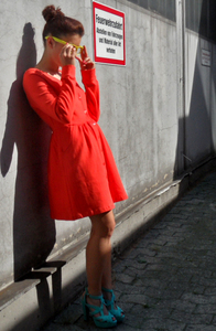 Sweat-Minikleid Bright Red - STUDIO JUX