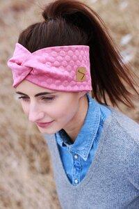 leichtes Stirnband - Rose Dots - dreisechzig