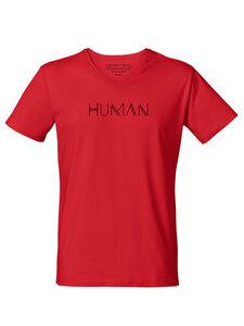 "Bio Herren V-Neck T-Shirt ""Human"" - Human Family"