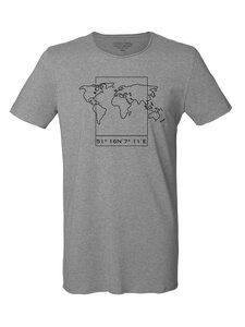 Bio Herren Sommer T-Shirt 'Surfs - Worldmap' - Human Family