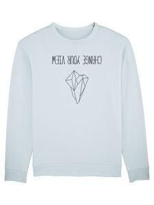 "Bio Unisex Sweatshirt - Smooth ""Change your View"" - Human Family"