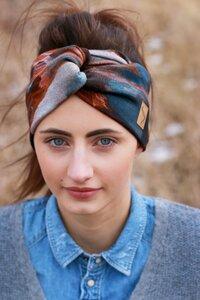 Stirnband im Turbanlook - Aquarell Jersey - dreisechzig